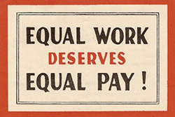 historical polling results equal pay