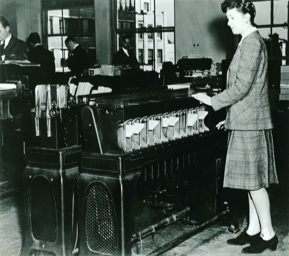 Card processing 1939