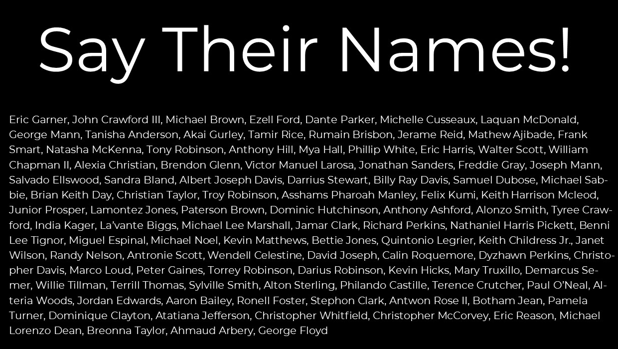 Names of Black Americans Killed By Police