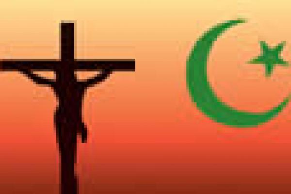 Sub-saharan religion image Cross and star and moon