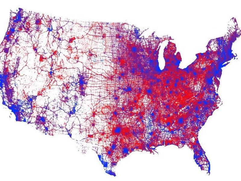 US Voting Map of 2016
