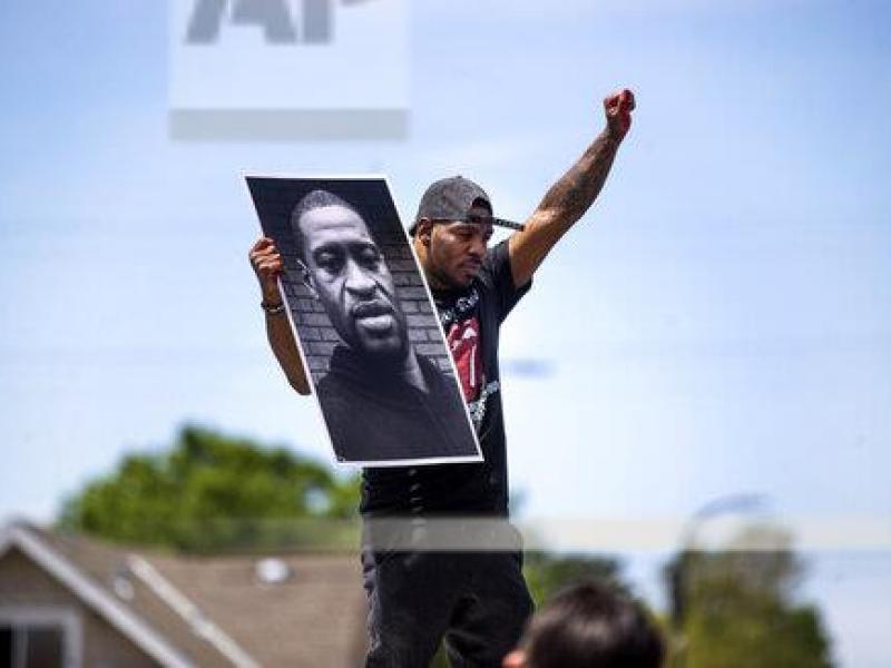 Strong Black American Protester