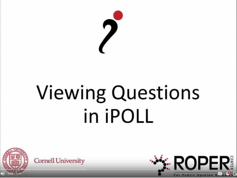 Viewing Questions in iPOLL