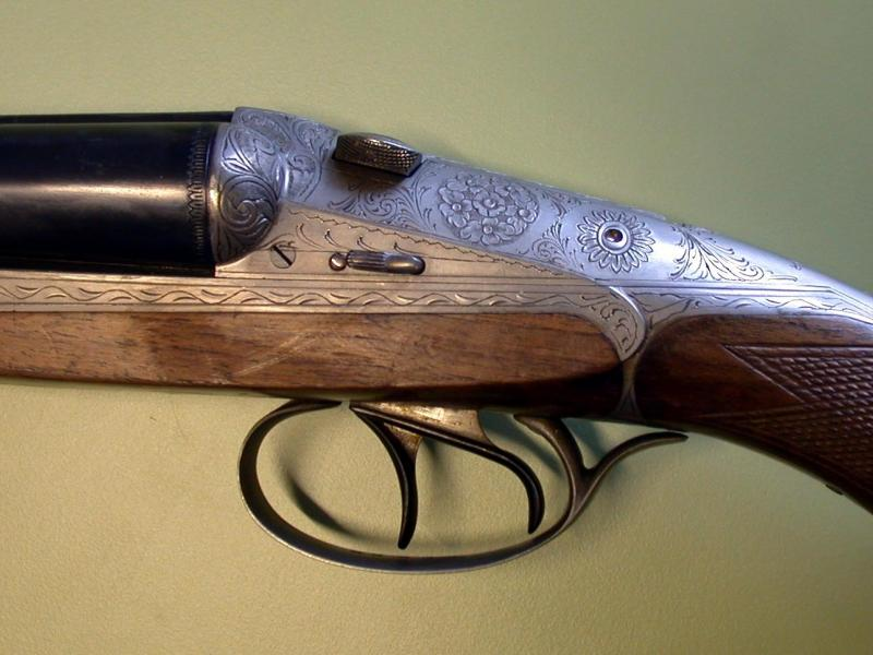Closeup of shotgun