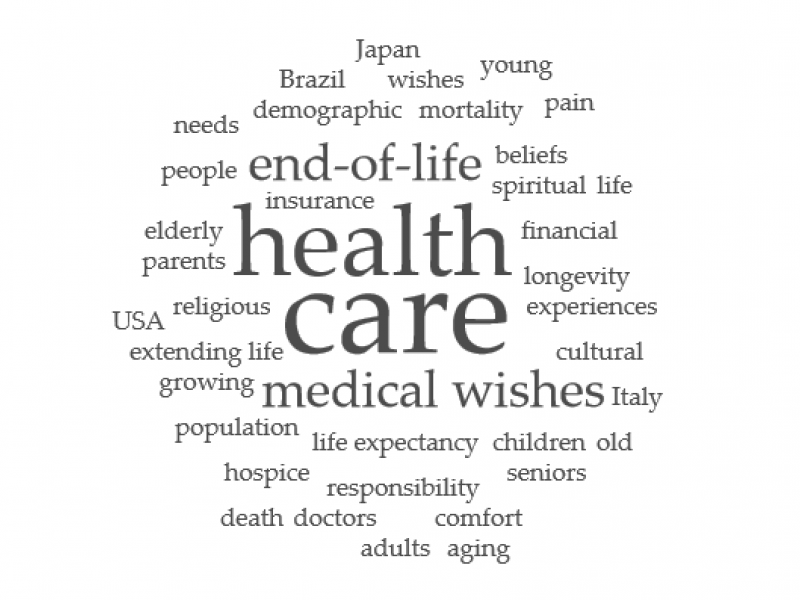 word cloud related to health and aging