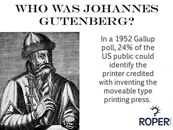 Who was Johannes Gutenberg?